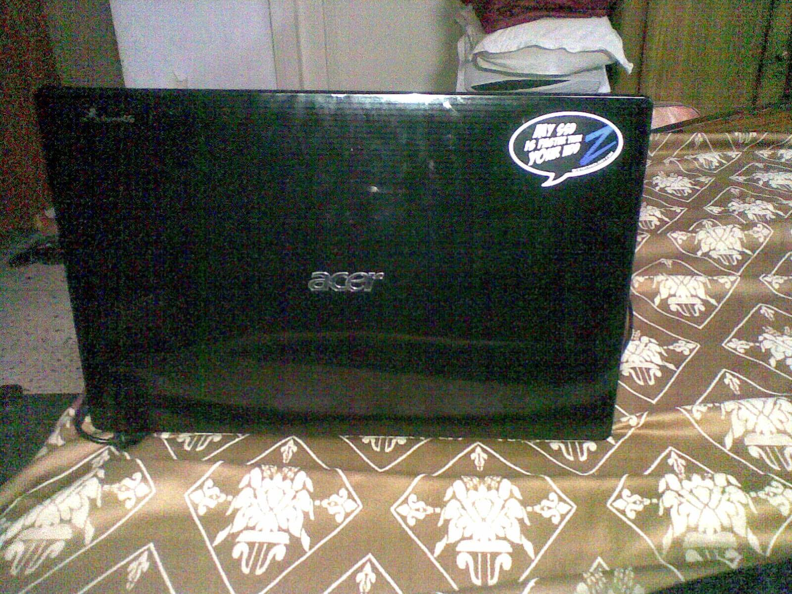 The SSD Sticker On The Laptop. :)