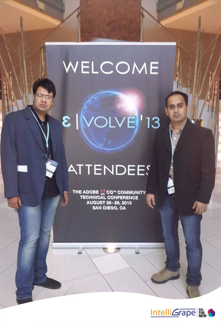 Ankur and Ahinit at Evolve'13