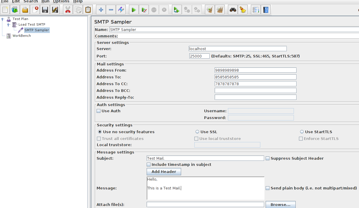 Load Testing an SMTP application using JMeter & Postal | TO