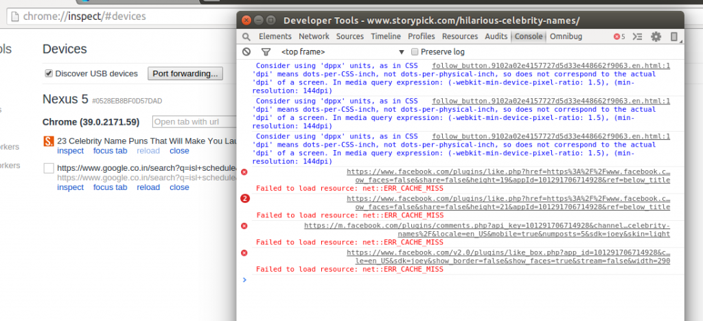 Debugging javascript on Android using chrome | TO THE NEW Blog