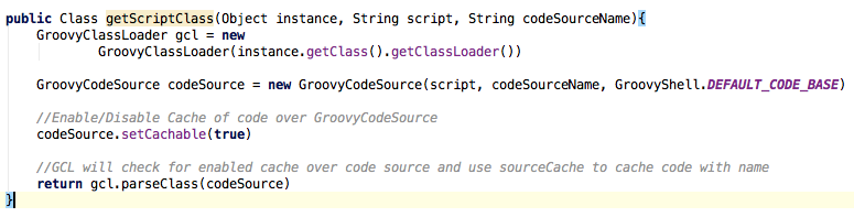 Usage of GroovyClassLoader and GroovyCodeSource