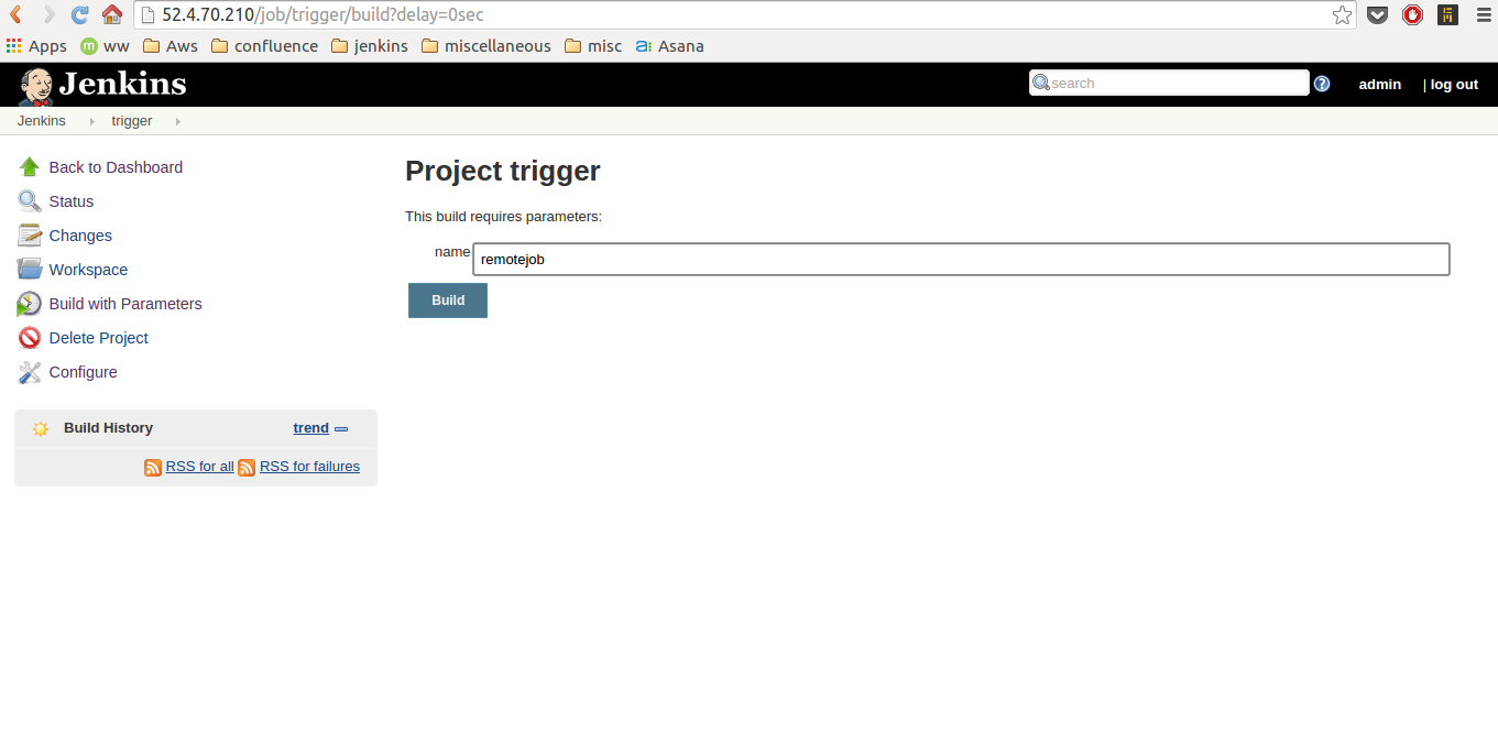 Jenkins Parameterized Remote Trigger Plugin | TO THE NEW Blog