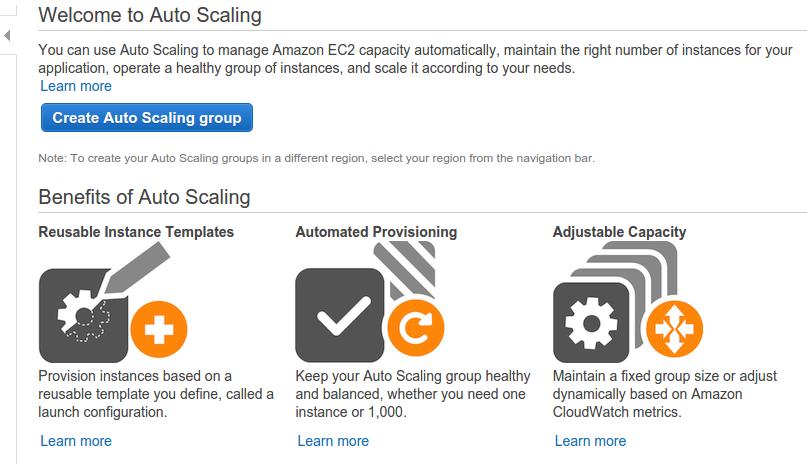 AWS AutoScaling Console