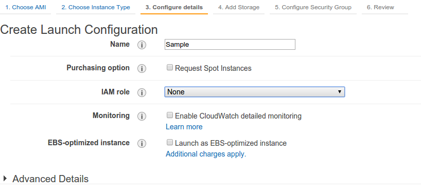 AWS Launch Config Creation