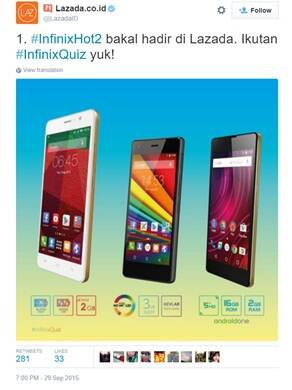 Lazada's #InfinixQuiz promotion program