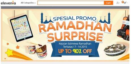 Tokopedia's Special promo Ramadhan Surprise in July 2015.