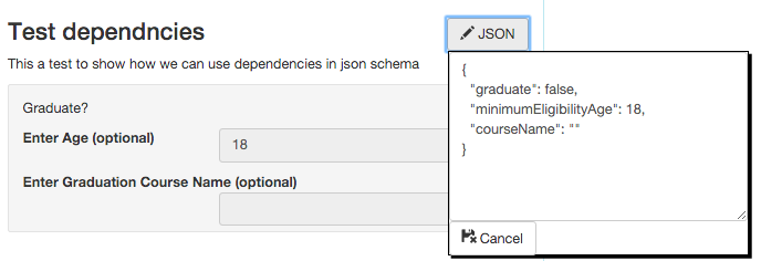 "Using ""dependencies"" in json schema (version : draft-v4"