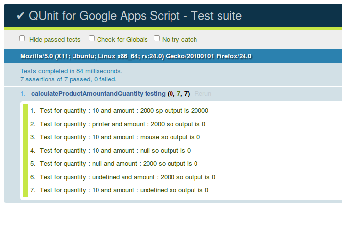 Qunit Test Cases Executed