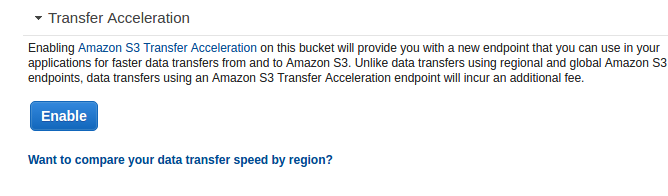 S3 Management Transferred Acceleration