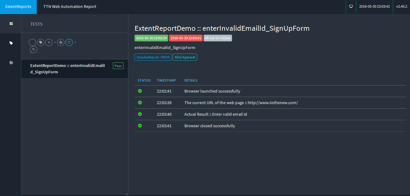 How to use ExtentReport in a framework | TO THE NEW Blog