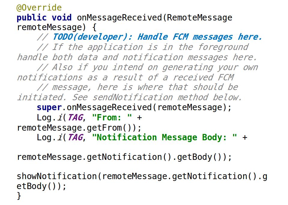 firebase send notification from device