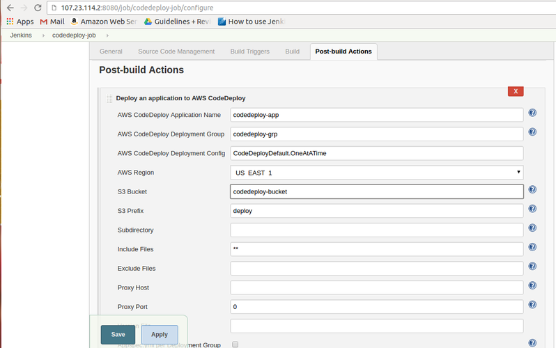 Integration of AWS CodeDeploy with Jenkins | TO THE NEW Blog