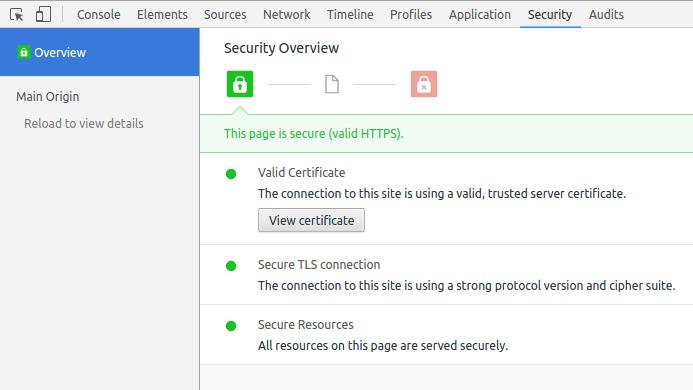 View SSL Ceritificate