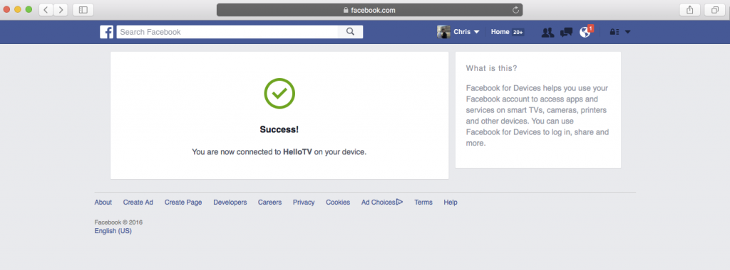 Login With Facebook for Smart TV – User Experience | TO THE NEW Blog