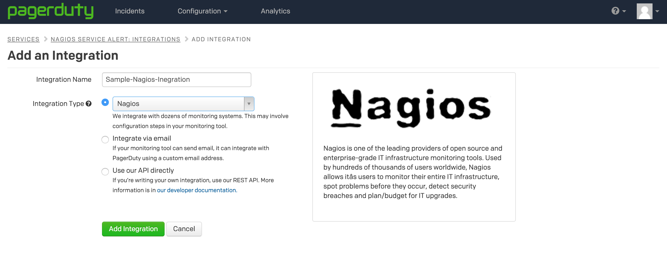 Integrating Nagios with PagerDuty