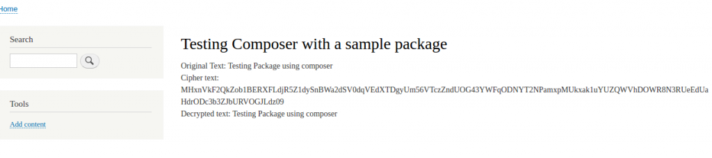 Testing Composer with a sample package  D8Composer