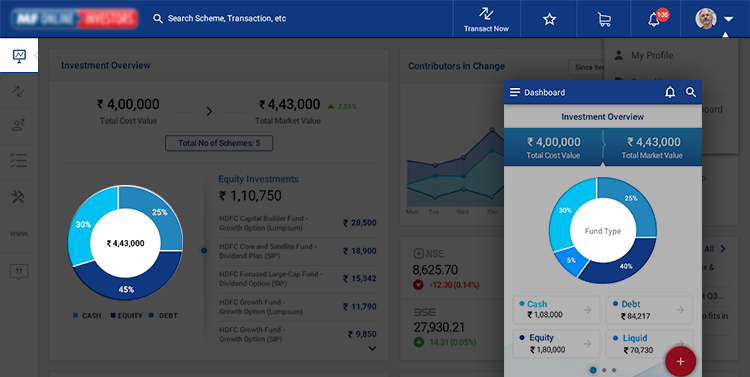 Brand Color usage HDFC