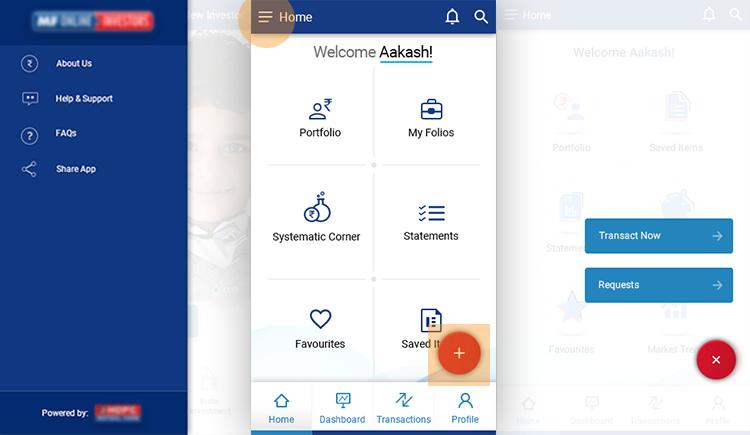 Navigation for mobile application