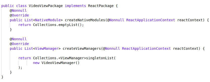 Custom Android Native View In React Native As a Component