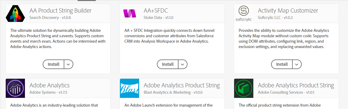 Adobe Launch - Extensions