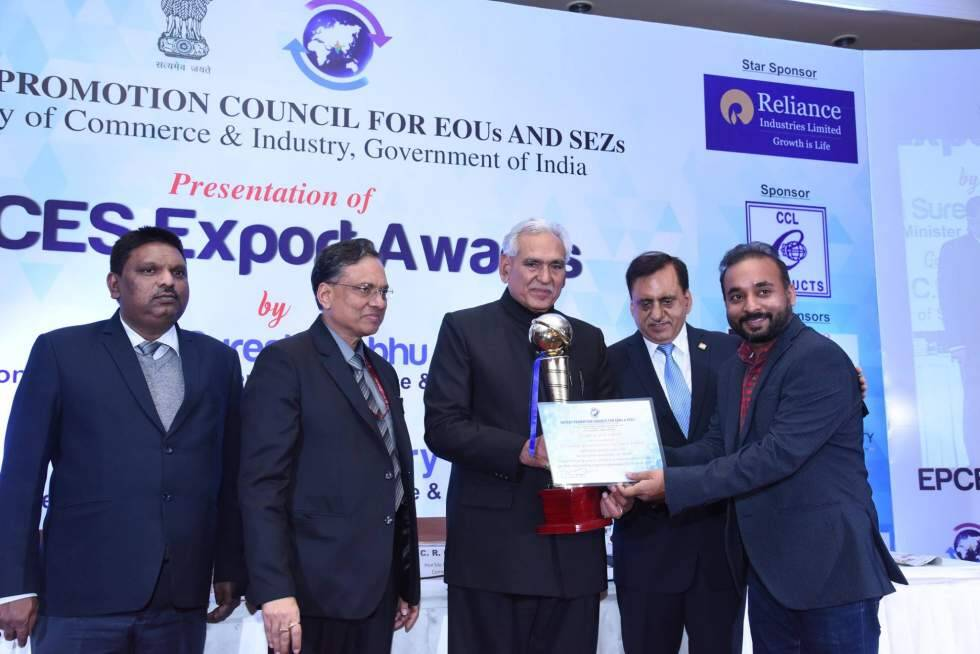 TO THE NEW Bags Best SEZ (MSME) Award